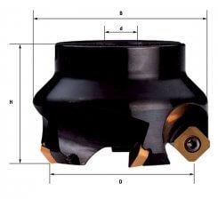 Cap de frezat cu placute schimbabile 40-125 mm F303