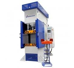 Presa hidraulica tip C de ambutisat cu dublu efect 500 x 500 mm CFDD 60