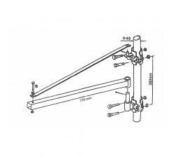 Brat rotativ pentru palan electric LN-400, LN-600