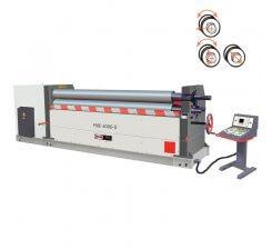 Masina de roluit tabla electromecanica cu 3 valturi PSBE-1050-10