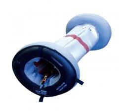 Sistem de etanșare și evacuare fum sudură țevi  folosit la sudarea unui cot din oțel inoxidabil SPEEDY PURGE