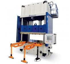 Presa hidraulica cu coloana tip H cu simplu efect 1200 x 1400 mm HCFP 400