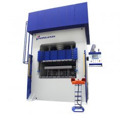 Presa hidraulica tip H de ambutisat cu dublu efect 1500 x 1700 mm HDD 600