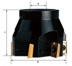 Cap de frezat la 90 grd cu placute schimbabile 40-100 mm F302 (90 grade)