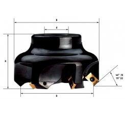 Cap de frezat cu placute schimbabile 63-80 mm F304